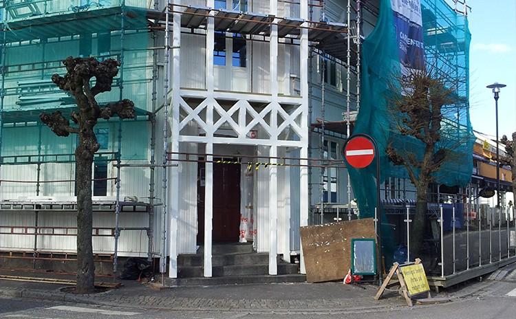 Sveitserhus under bygging